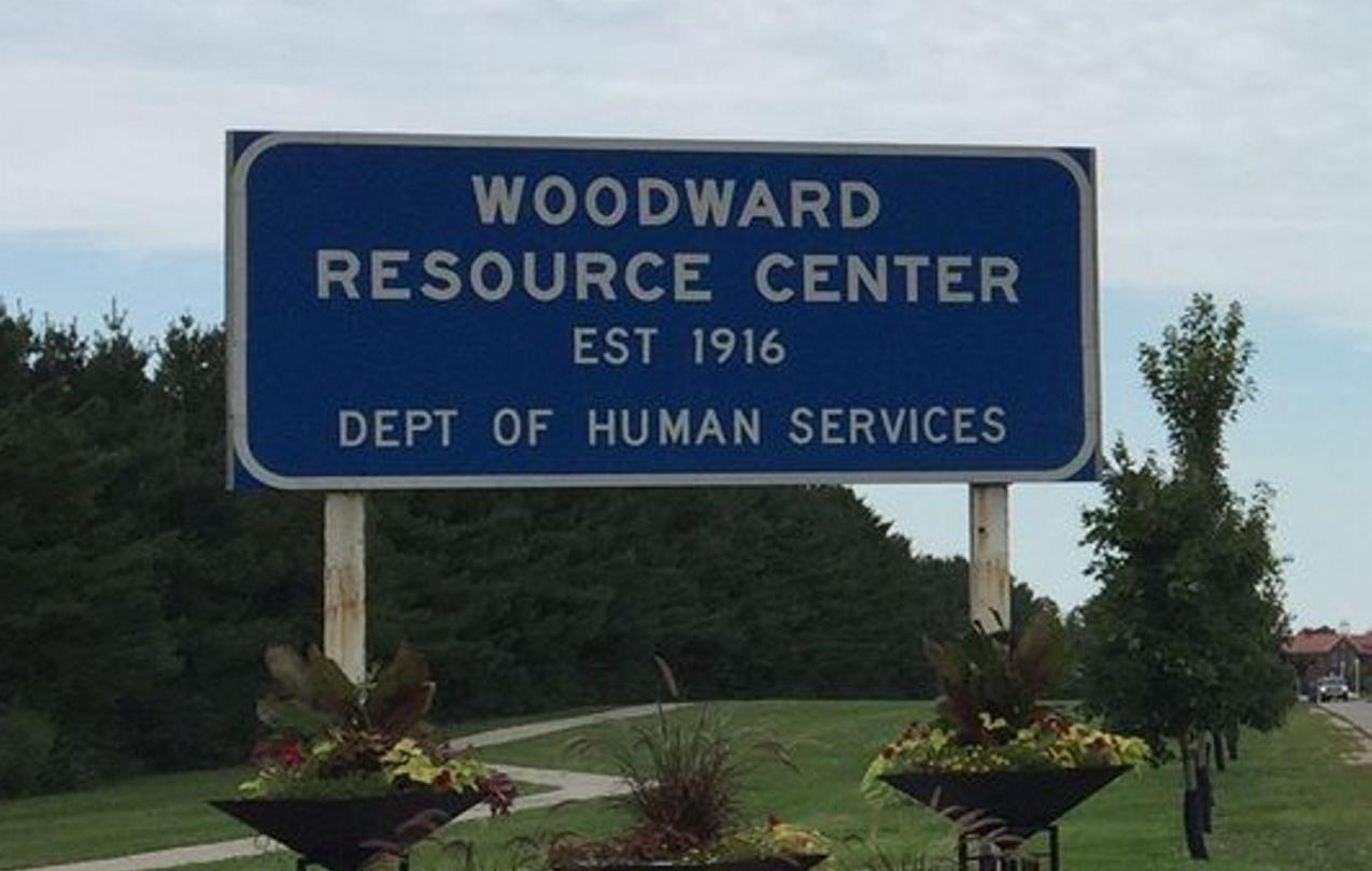 woodward resource center sign