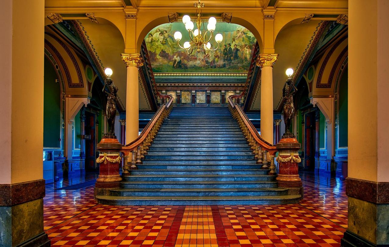 Photo inside the Iowa Capitol
