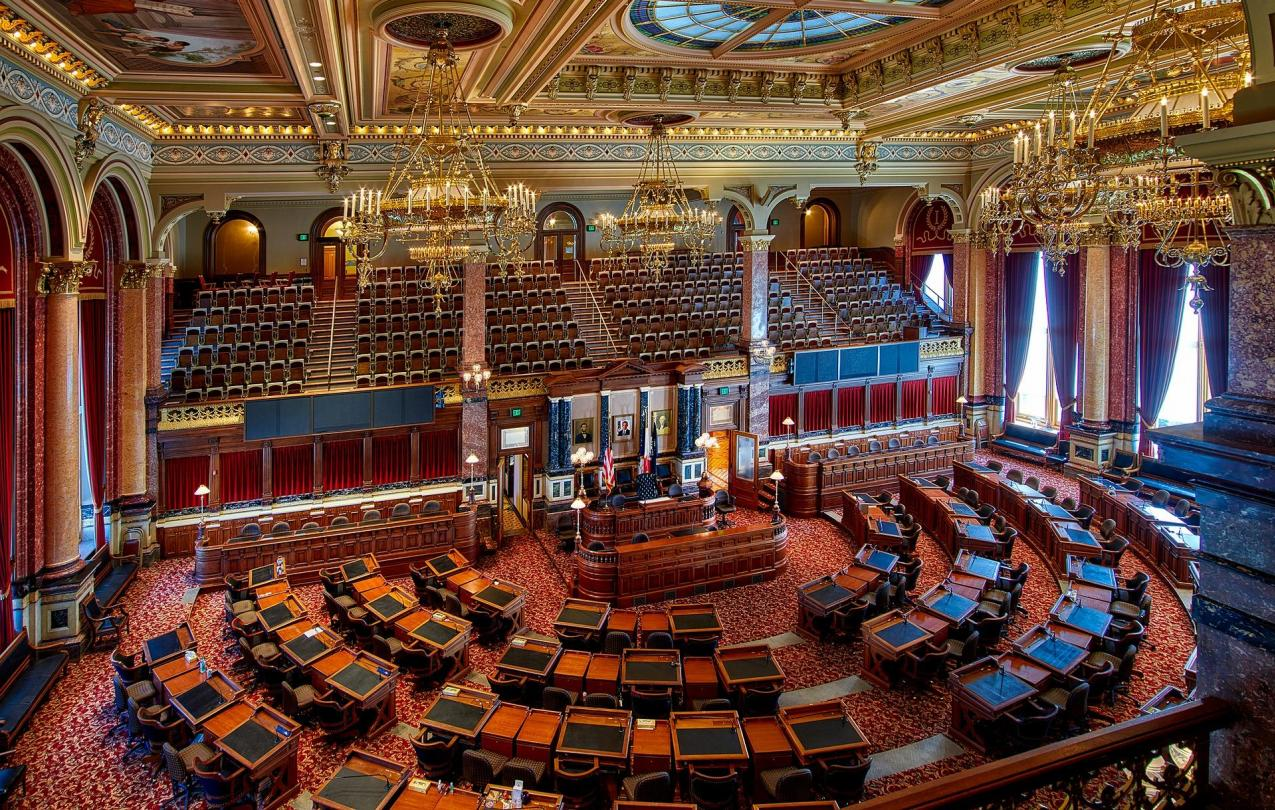 Photo of the Iowa Senate chambers