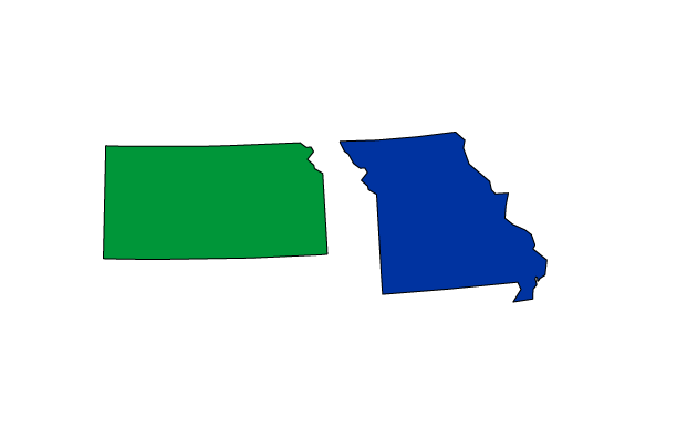 Photo of Missouri and Kansas